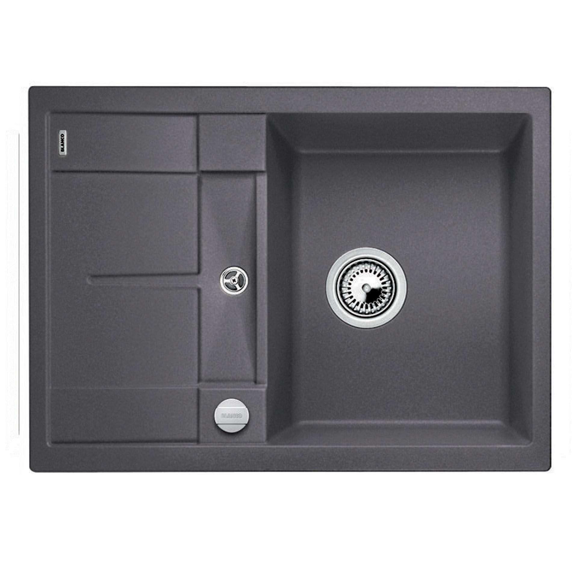 blanco metra 45 s compact rock grey silgranit sink. Black Bedroom Furniture Sets. Home Design Ideas