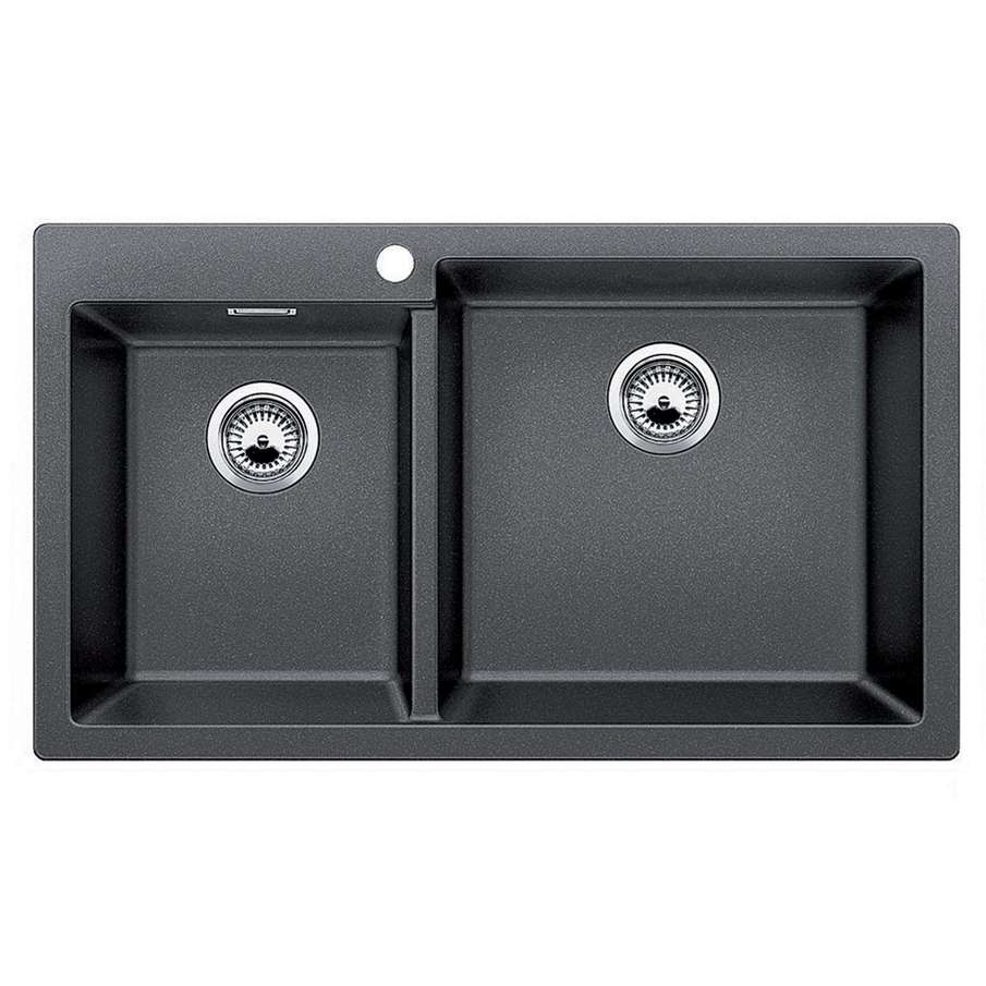 Anthracite Kitchen Sink : Blanco: Pleon 9 Anthracite Silgranit Sink - Kitchen Sinks & Taps