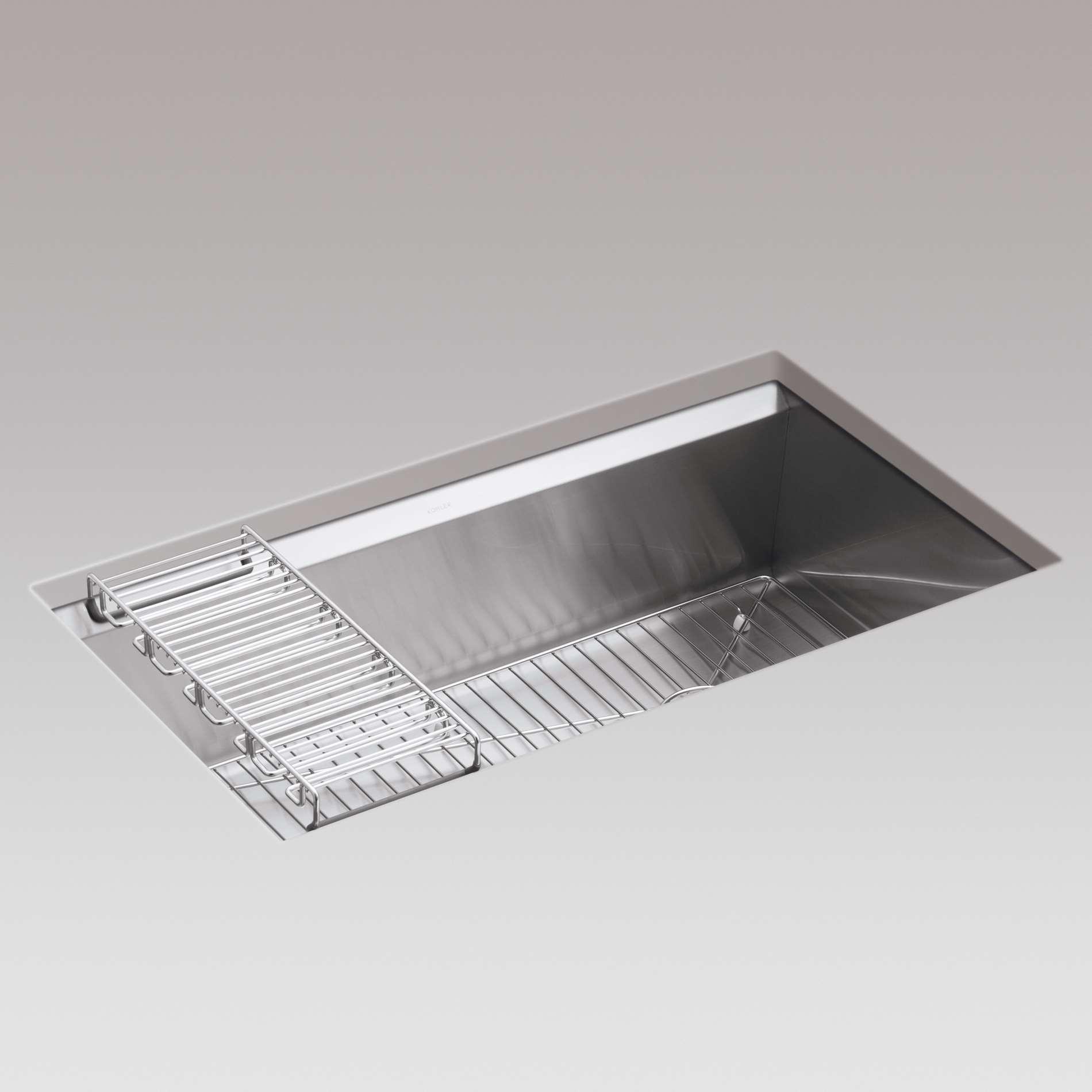 Kitchen Sinks & Taps - Kohler: 8 Degree 3673 Professional Single bowl