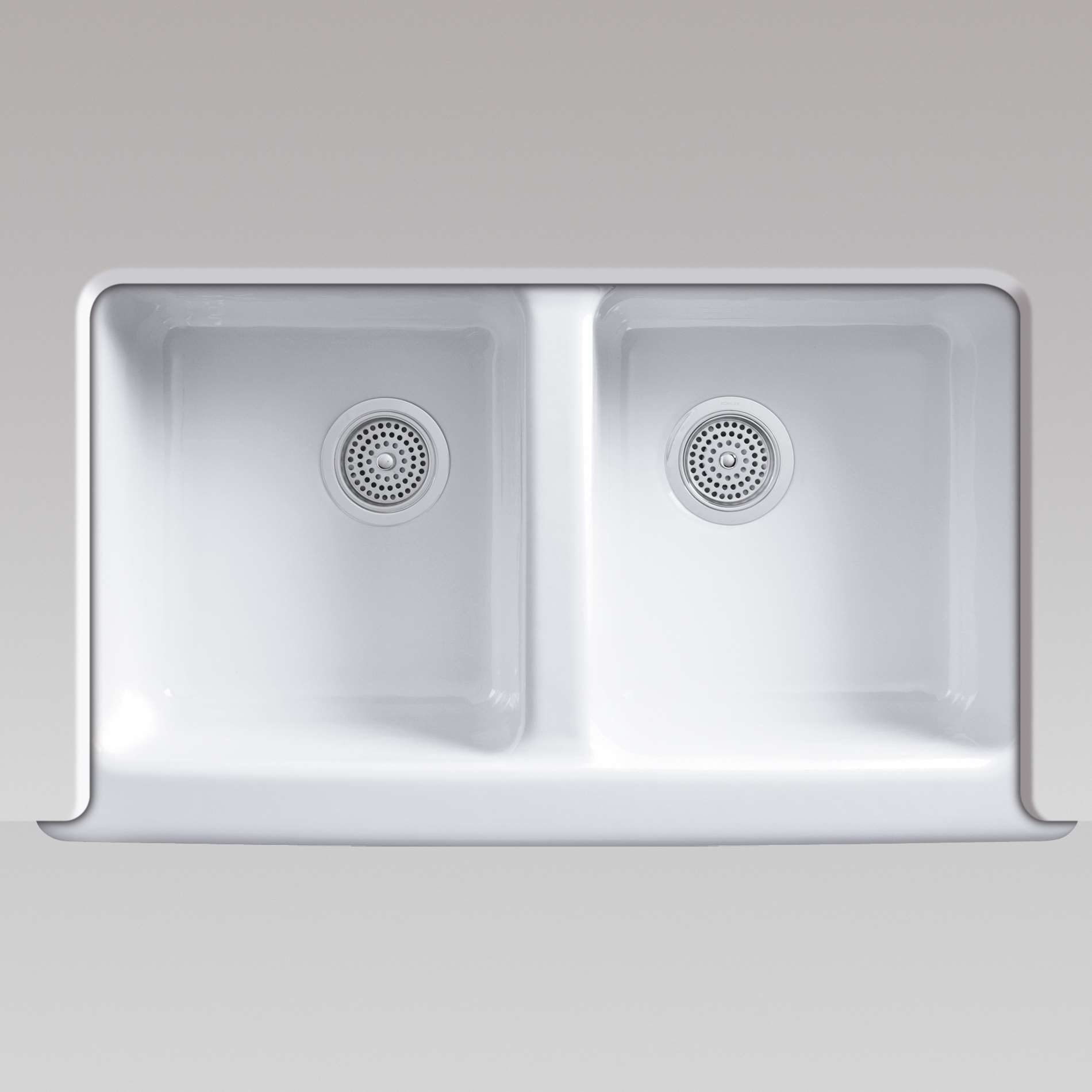 Kohler hawthorne 6534 white cast iron sink kitchen for Cast iron sink manufacturers