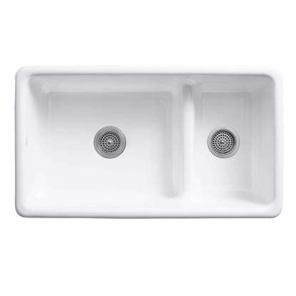 Picture of Kohler: Iron/Tones 6625 Smart Divide Cast Iron Sink