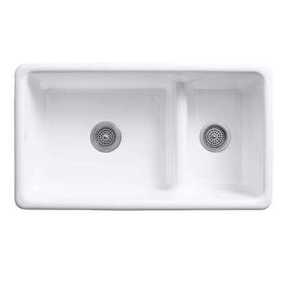 Picture of Kohler: Iron/Tones 6625 Smart Divide Cast Iron Sink