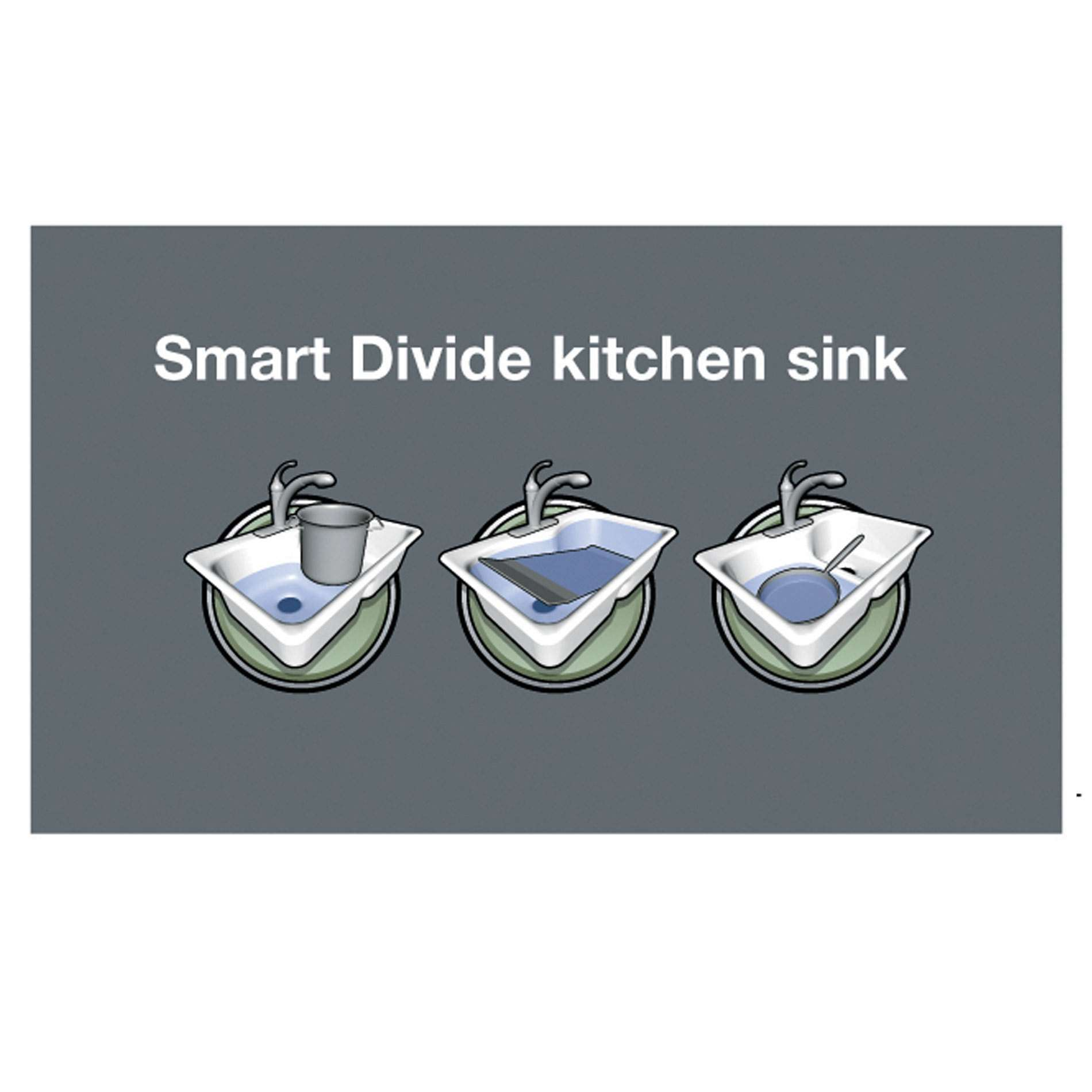 Picture Of Iron/Tones 6625 Smart Divide Cast Iron Sink