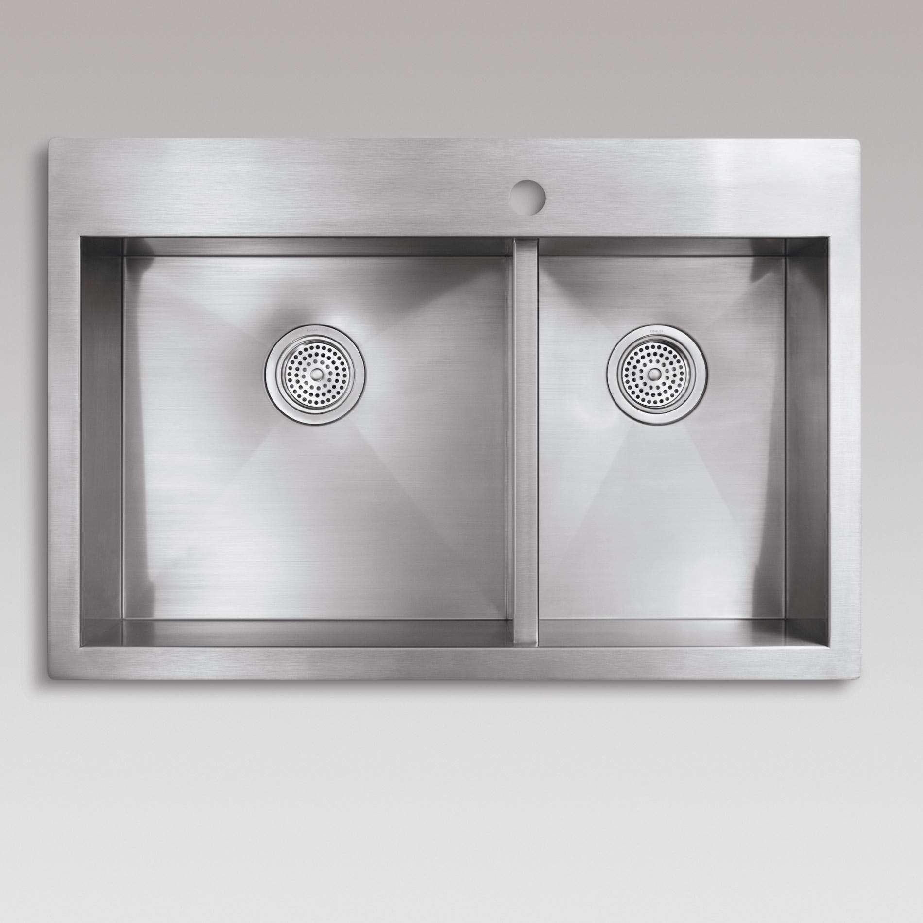 Kohler: Vault 3823 Stainless Steel Sink - Kitchen Sinks & Taps on