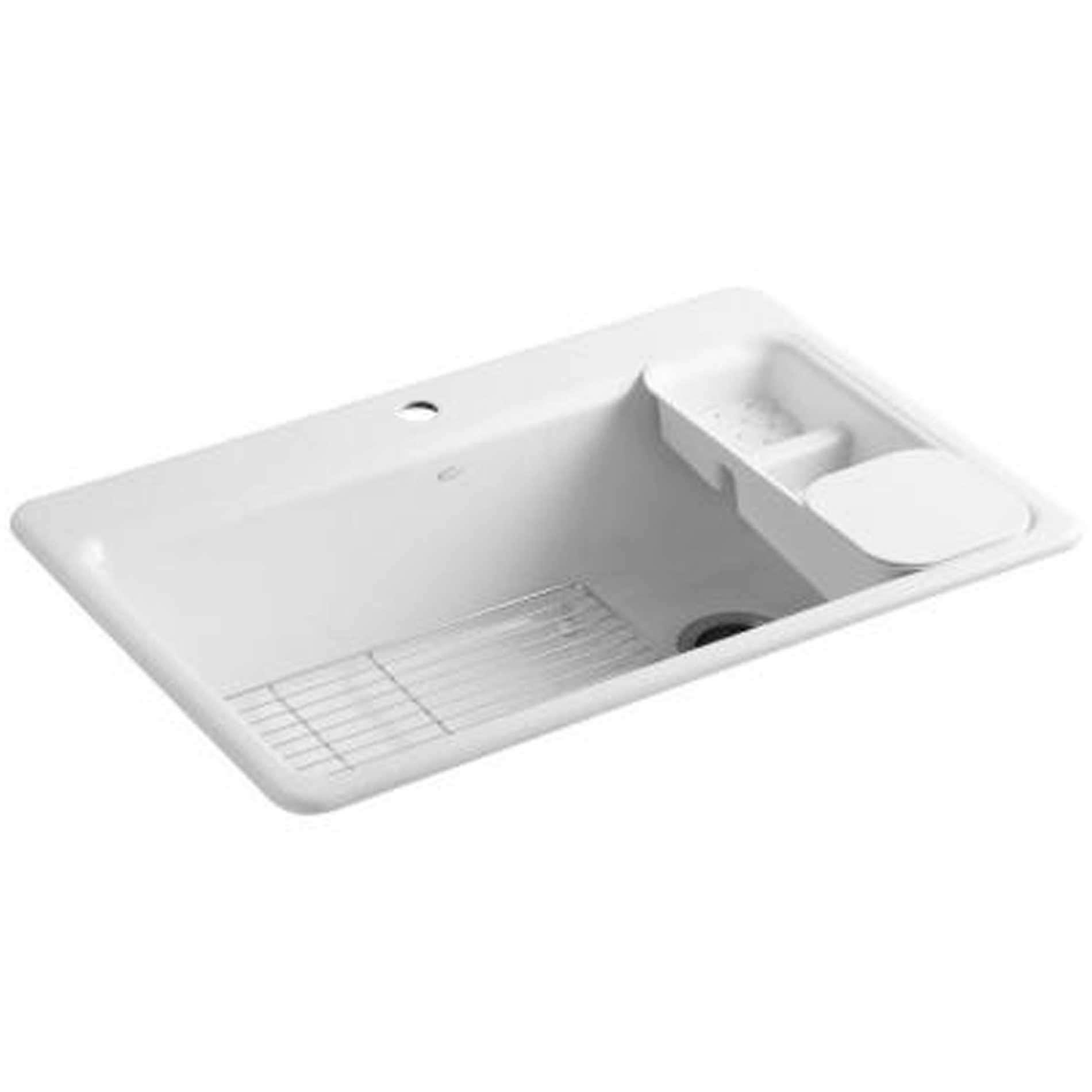Kitchen Sinks & Taps - Kohler: Riverby 5871 Inset Cast Iron Sink