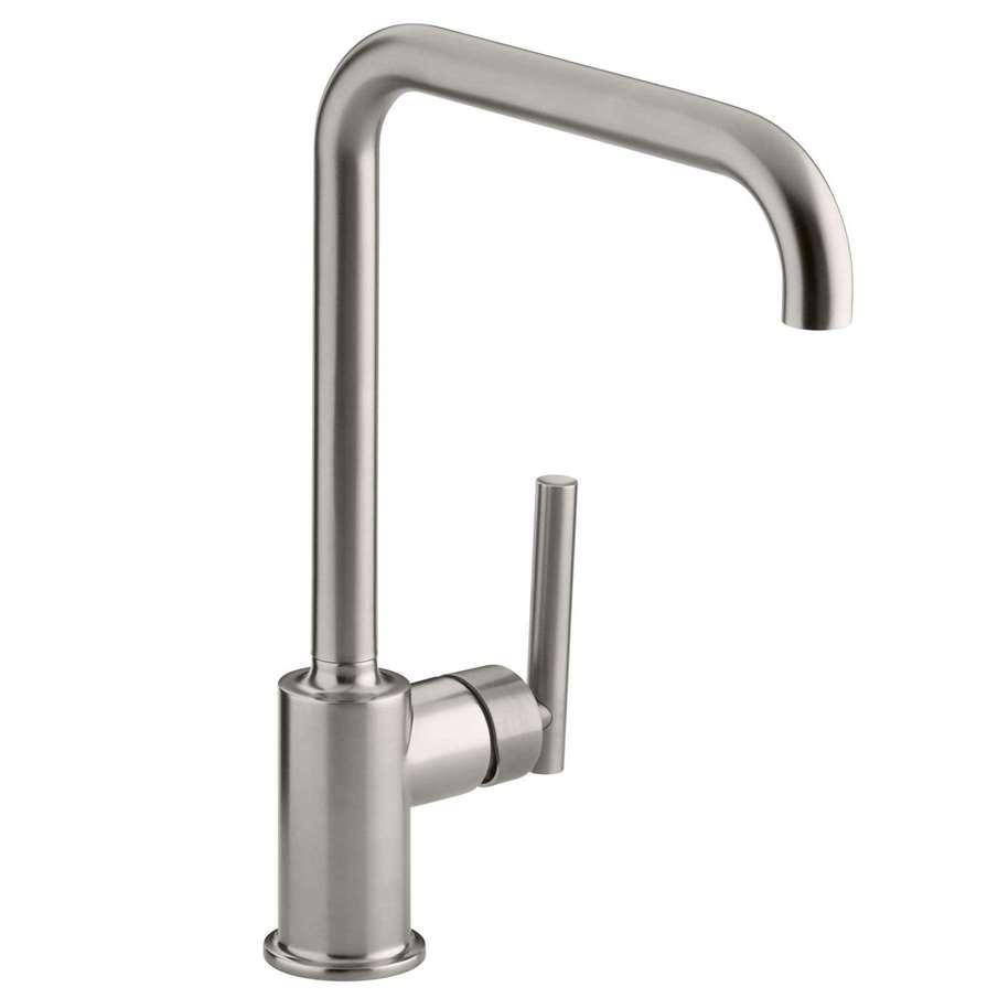 Kohler Kitchen Taps : Kitchen Sinks & Taps - Kohler: Purist Brushed Steel Tap
