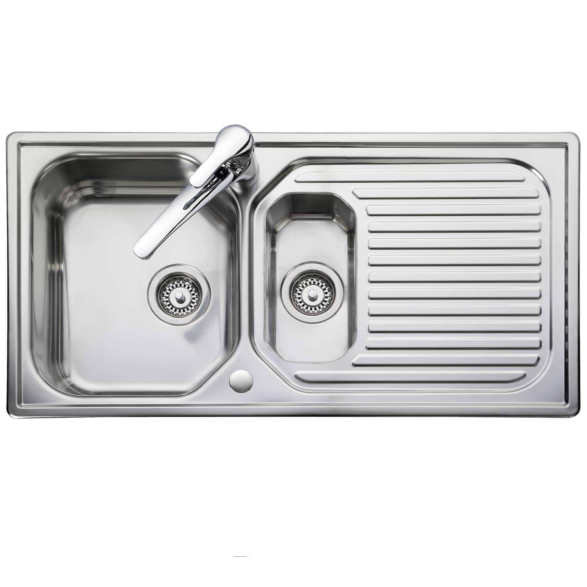Leisure: Aqualine AQ9852 Stainless Steel Sink - Kitchen Sinks & Taps