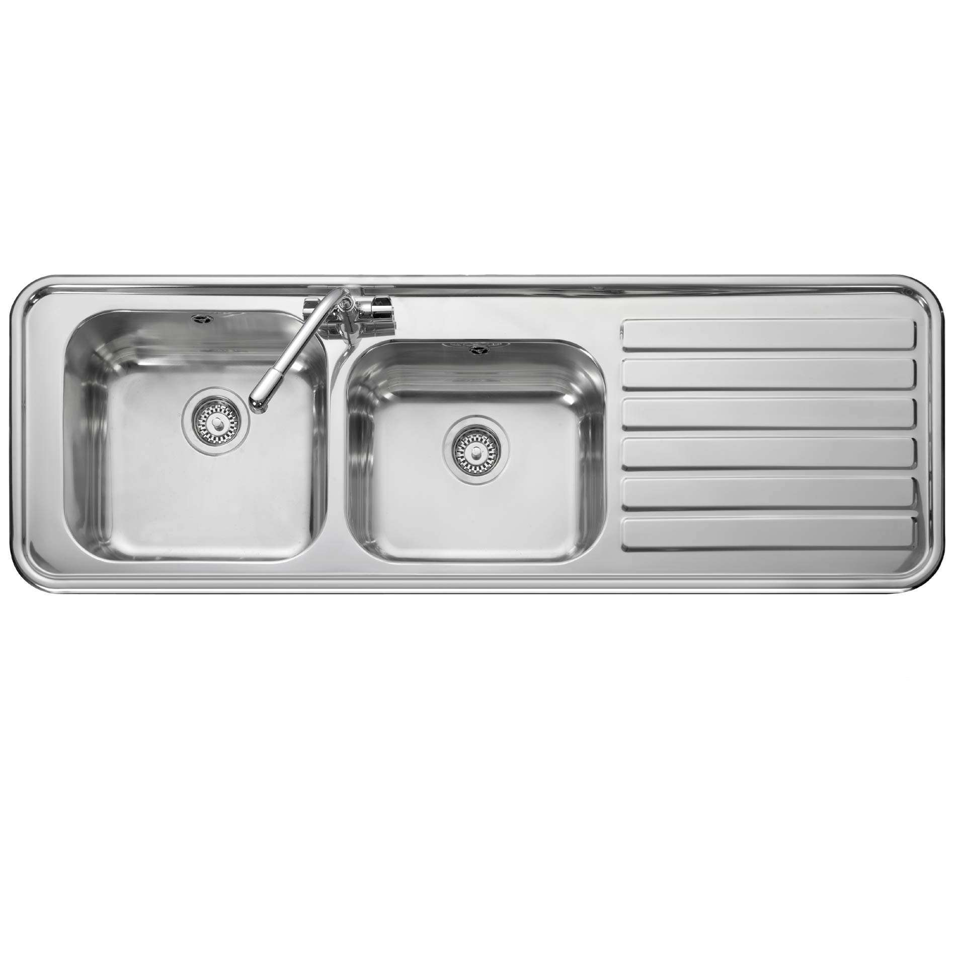 Leisure: Luxe LX155 Handed Stainless Steel Sink - Kitchen Sinks & Taps