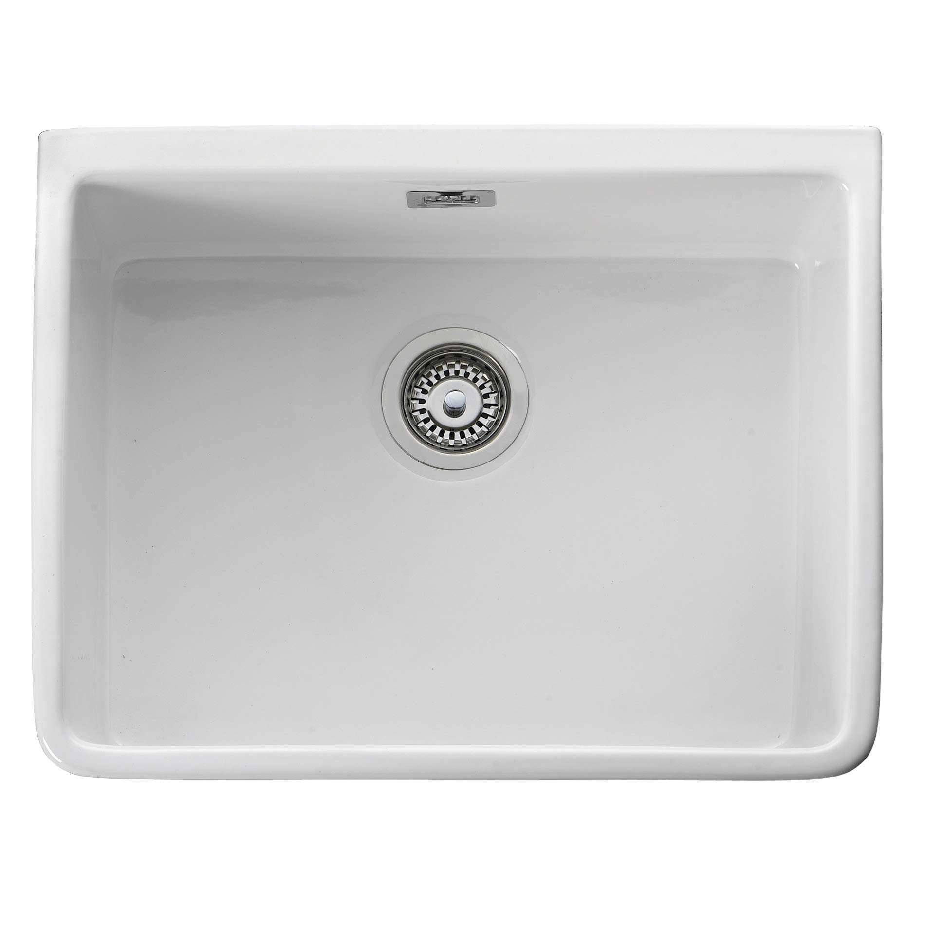 kitchen single bowl sinks leisure belfast cbl595wh ceramic single bowl sink 5610