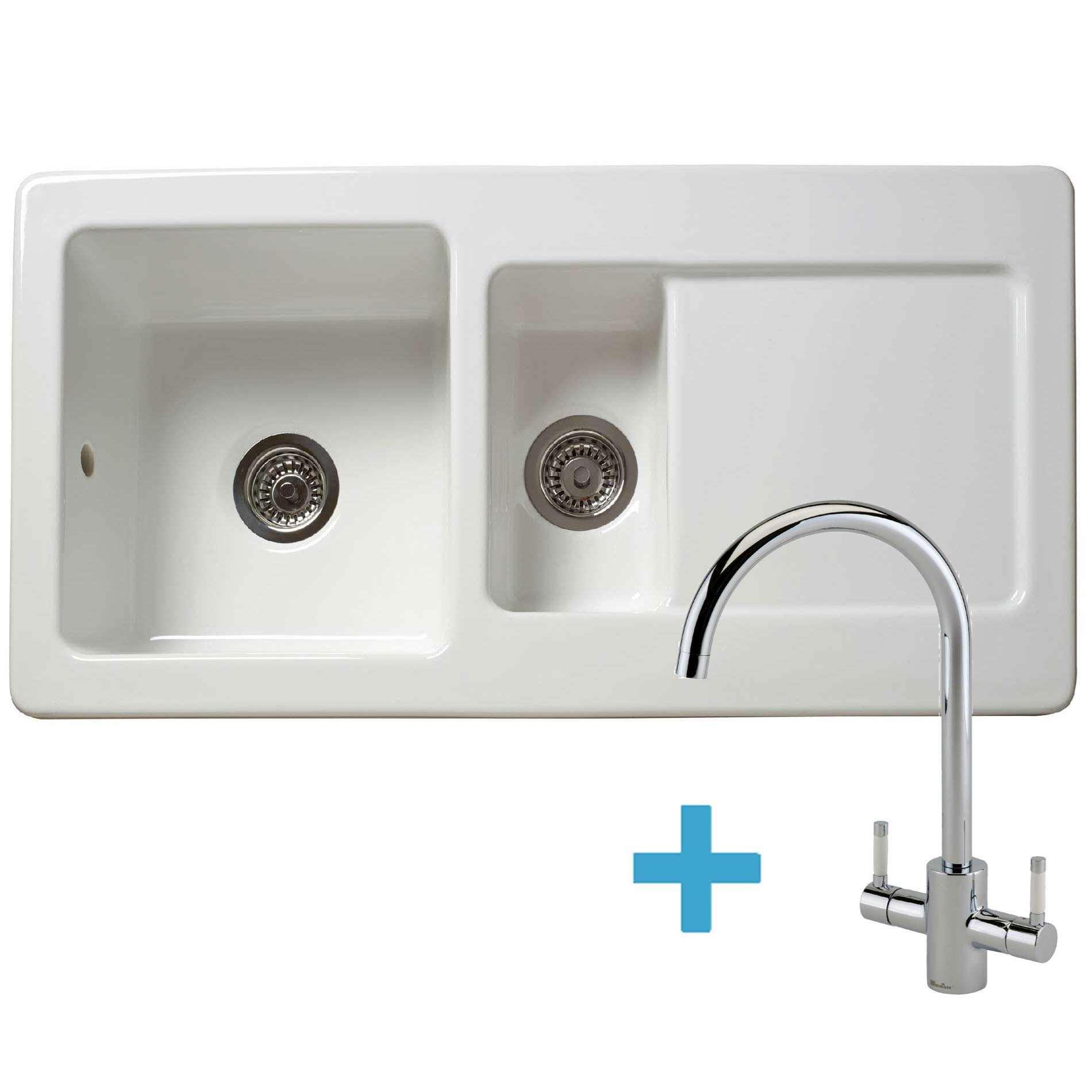 Picture of RL501CW Ceramic Sink & Genesis White Tap Pack