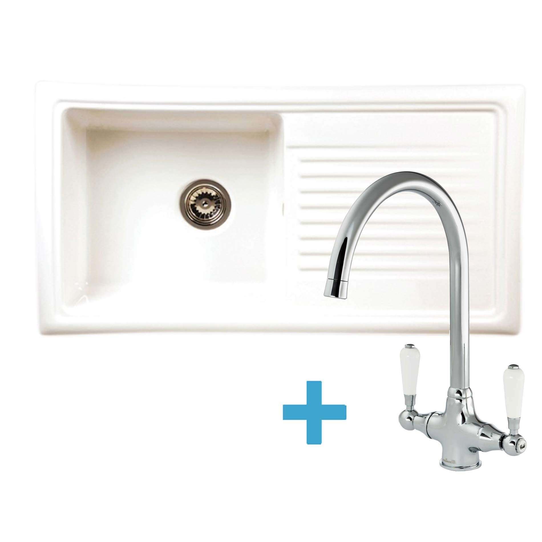 Picture of RL304CW Ceramic Sink & Elbe Tap Pack