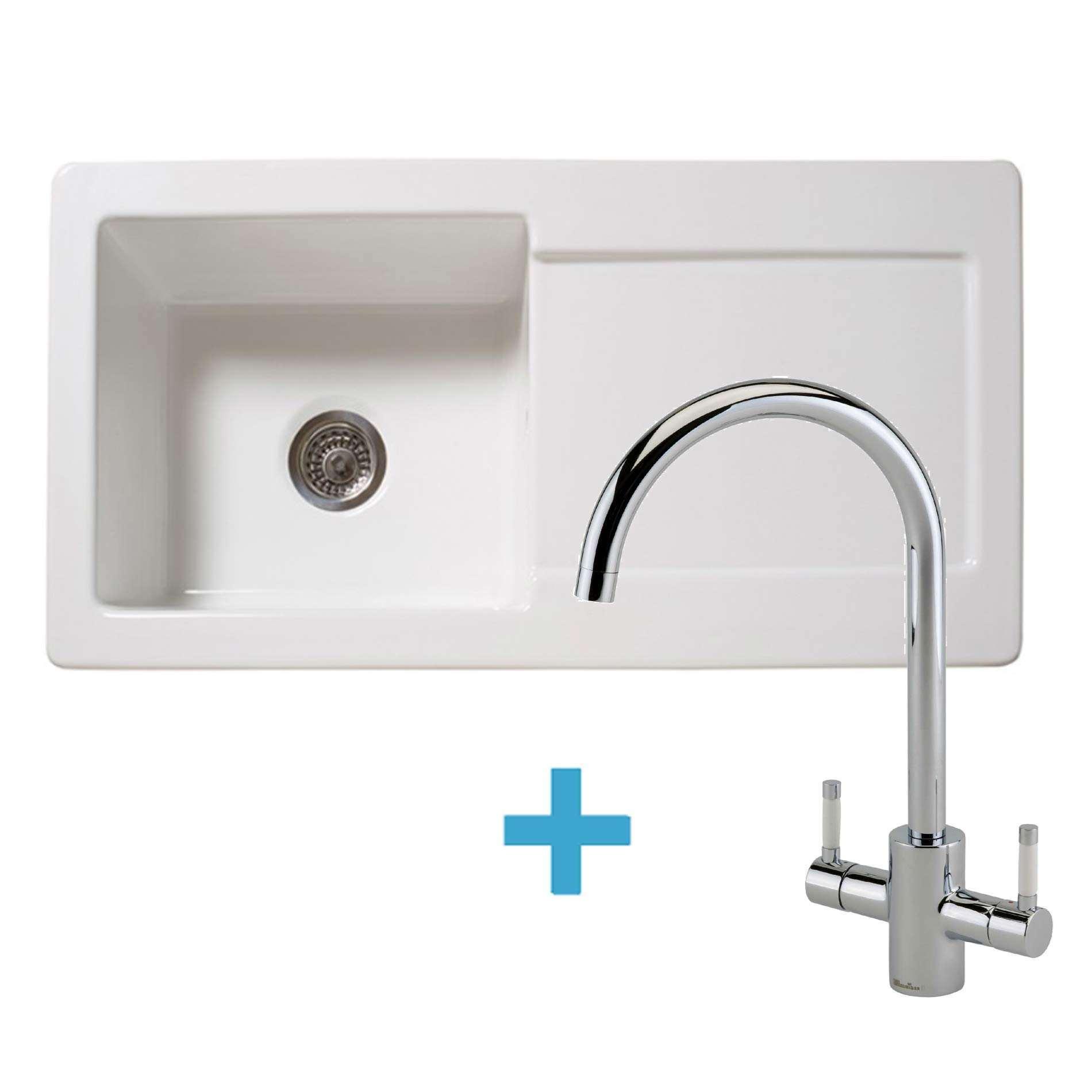 Picture of RL504CW Ceramic Sink & Genesis White Tap Pack