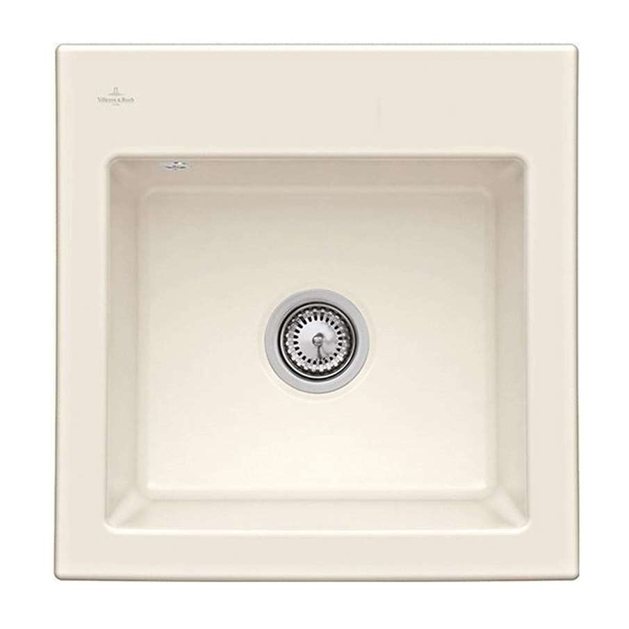 Villeroy & Boch: Subway 50 S Cream Ceramic Sink - Kitchen Sinks & Taps