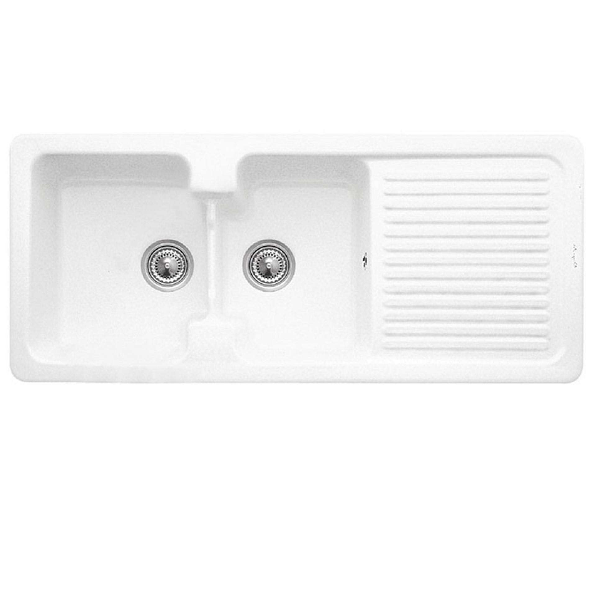 Double Bowl With Drainer - Kitchen Sinks & Taps