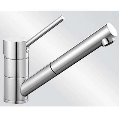 Picture of Blanco: Peak-S Pull Out Brushed Steel Tap