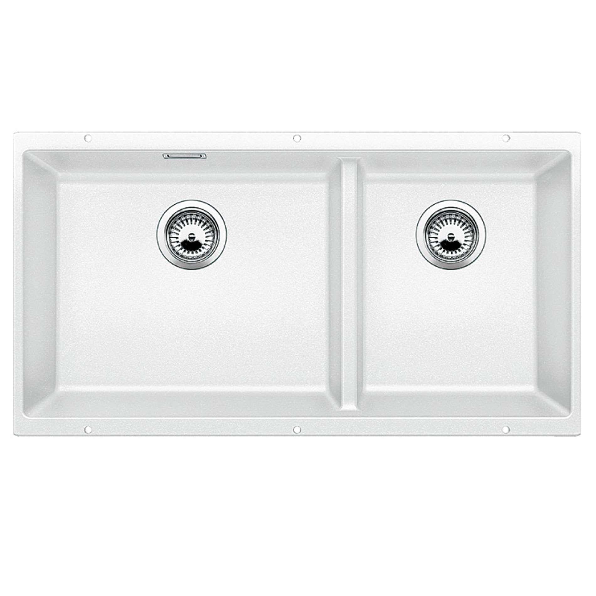 Blanco Subline 480 320 U White Silgranit Sink Kitchen