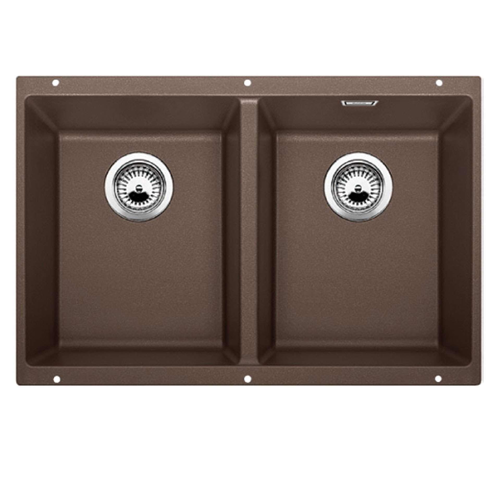 blanco subline 350 350 u coffee silgranit sink kitchen. Black Bedroom Furniture Sets. Home Design Ideas