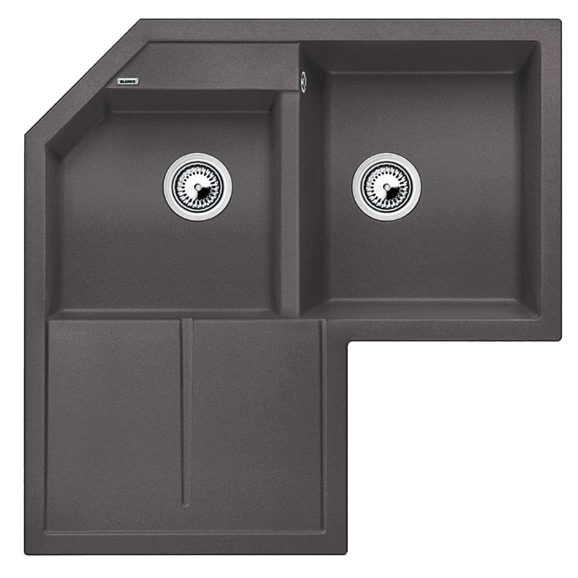 Blanco Grey Sink : Blanco: Metra 9 E Rock Grey Silgranit Sink - Kitchen Sinks & Taps
