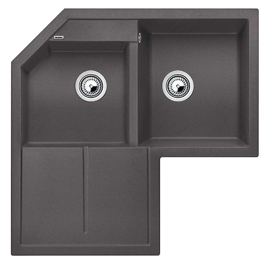 Franke Grey Sink : Blanco: Metra 9 E Rock Grey Silgranit Sink - Kitchen Sinks & Taps