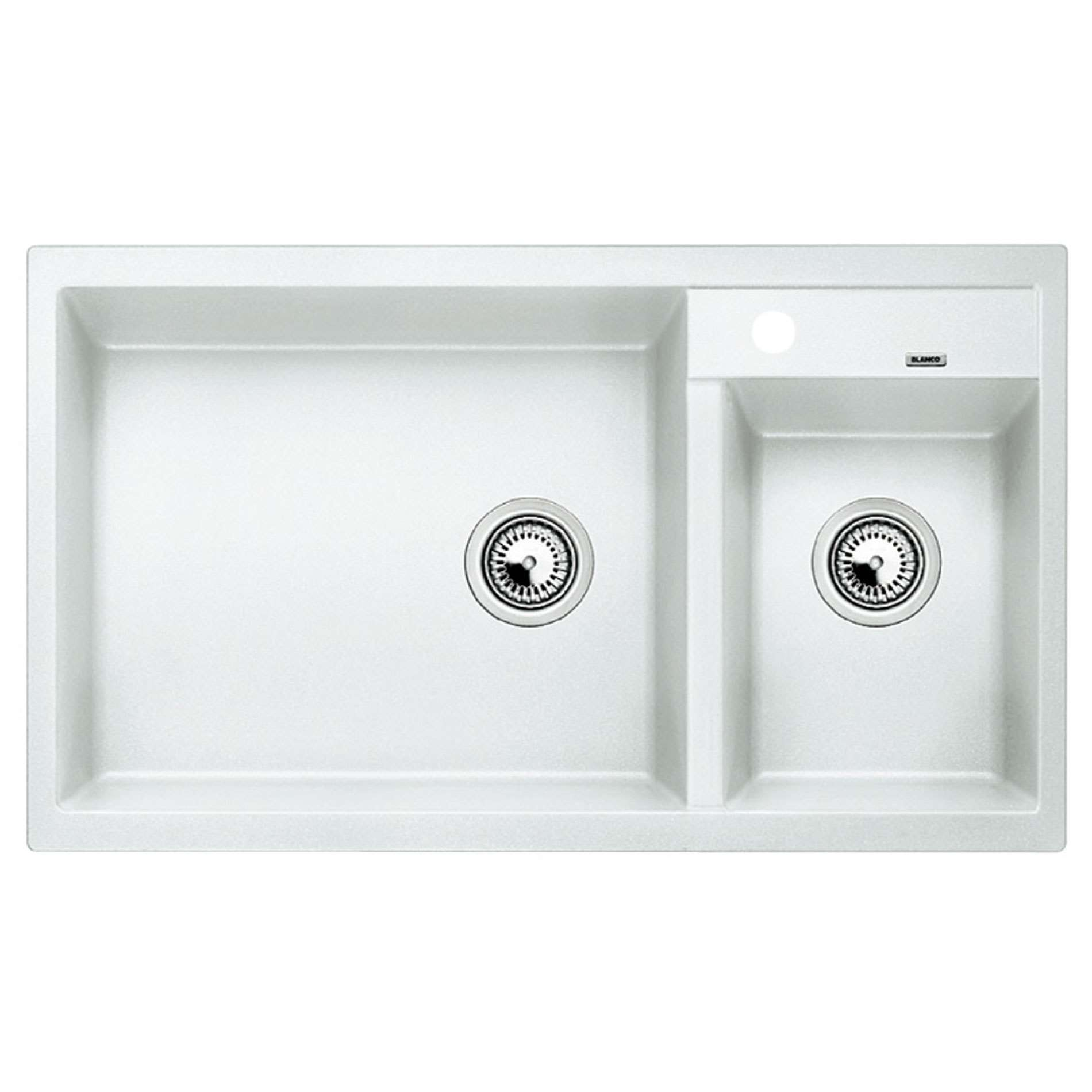 White Silgranit Sink : Blanco: Metra 9 White Silgranit Sink - Kitchen Sinks & Taps