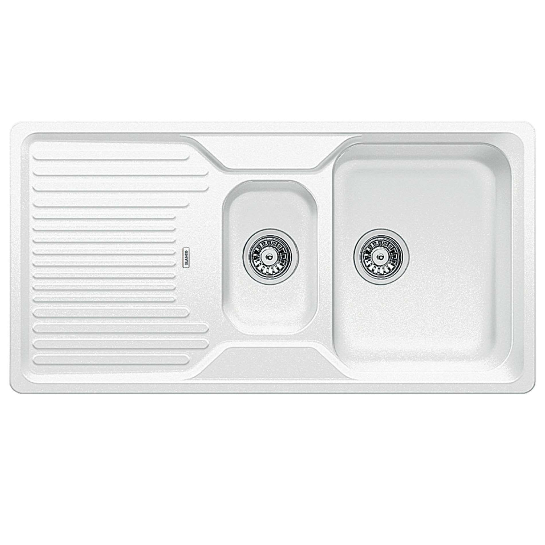 White Silgranit Sink : Blanco: Classic 6 S White Silgranit Sink - Kitchen Sinks & Taps