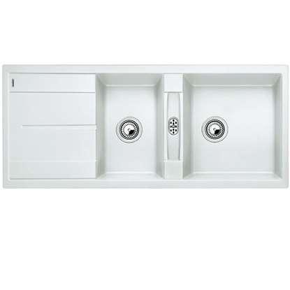 Picture of Blanco: Metra 8 S White Silgranit Sink