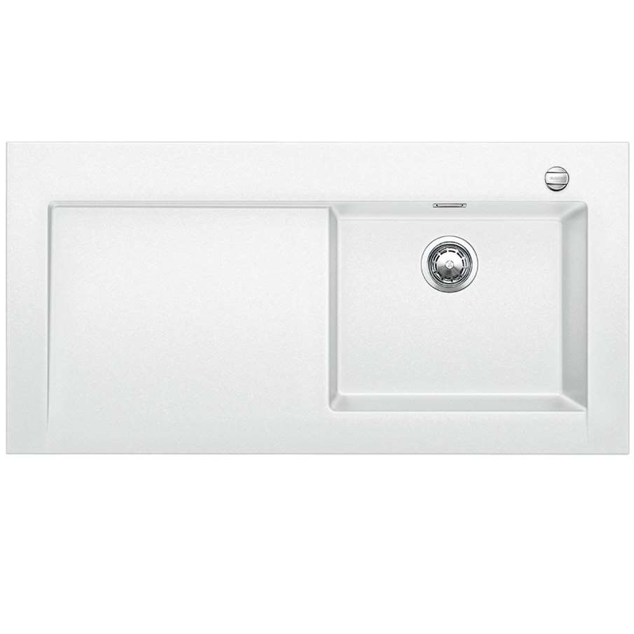 White Silgranit Sink : Blanco: Modex M-60 White Silgranit Sink - Kitchen Sinks & Taps