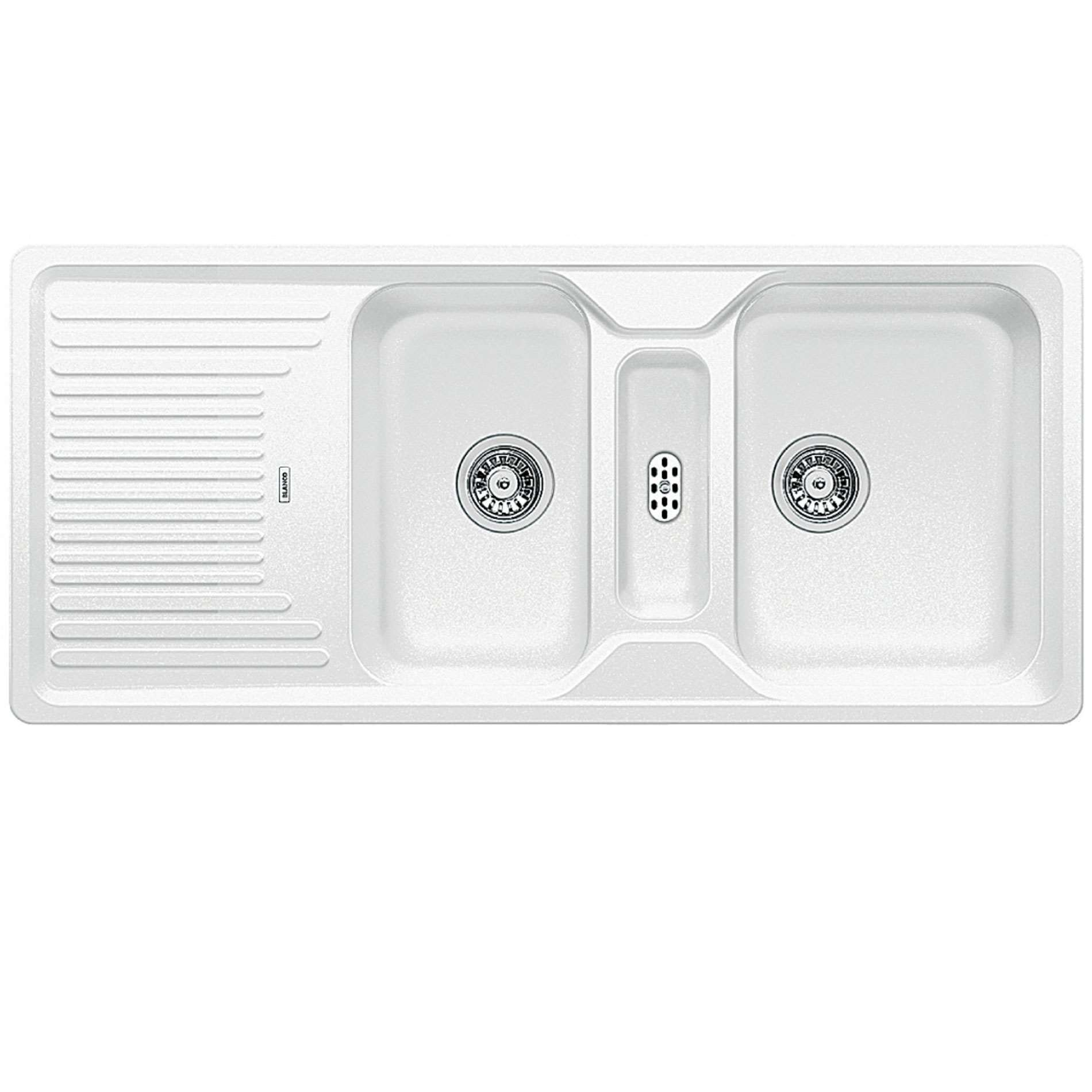 White Silgranit Sink : Blanco: Classic 8 S White Silgranit Sink - Kitchen Sinks & Taps