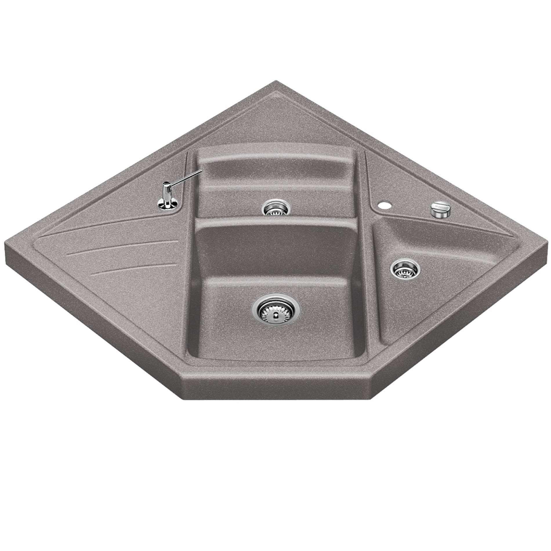 Blanco Silgranit Sink Accessories : Blanco: Modus M-90 Alumetallic Silgranit Sink - Kitchen Sinks & Taps