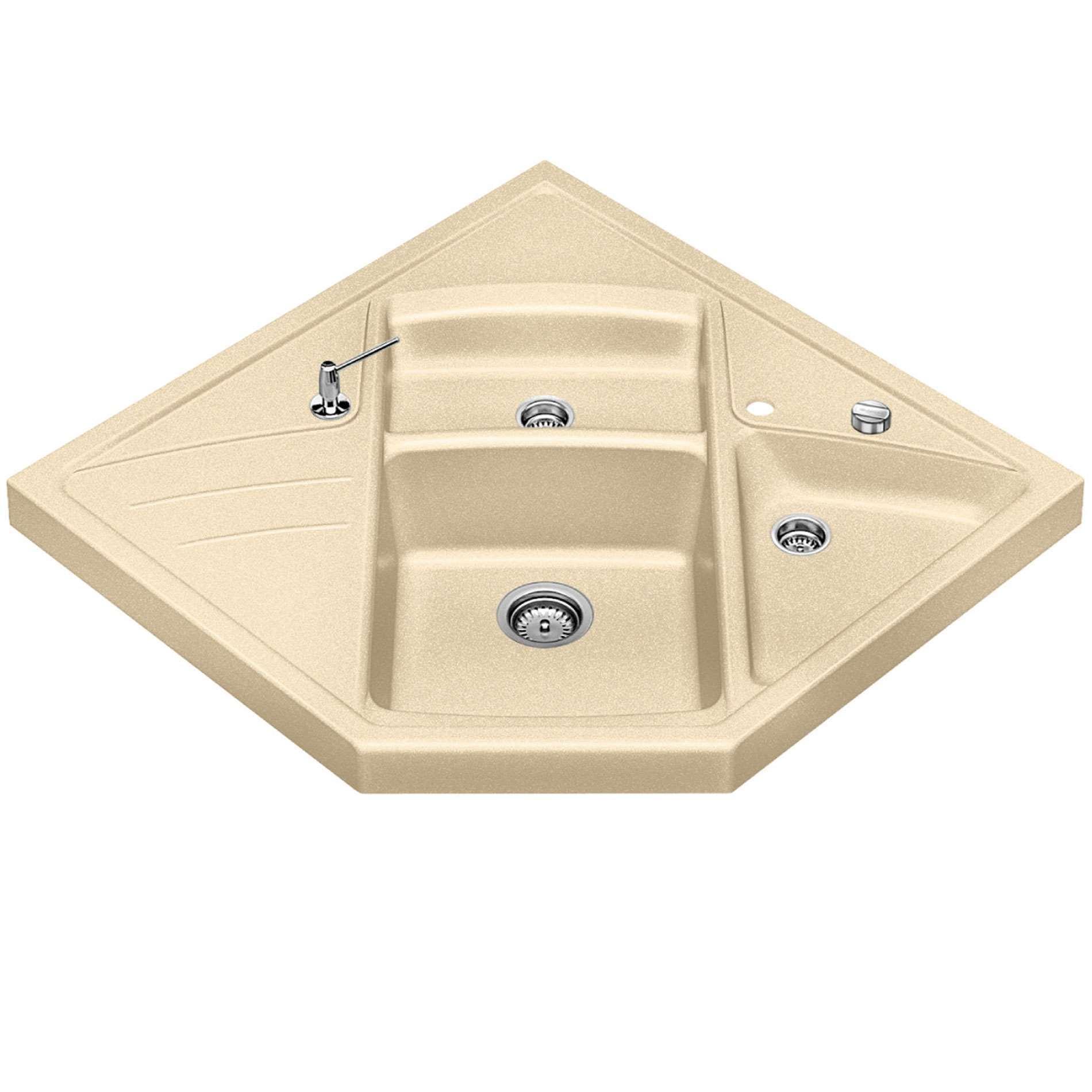 Corner kitchen sinks uk space saver double bowl kitchen for Silgranit bathroom sinks