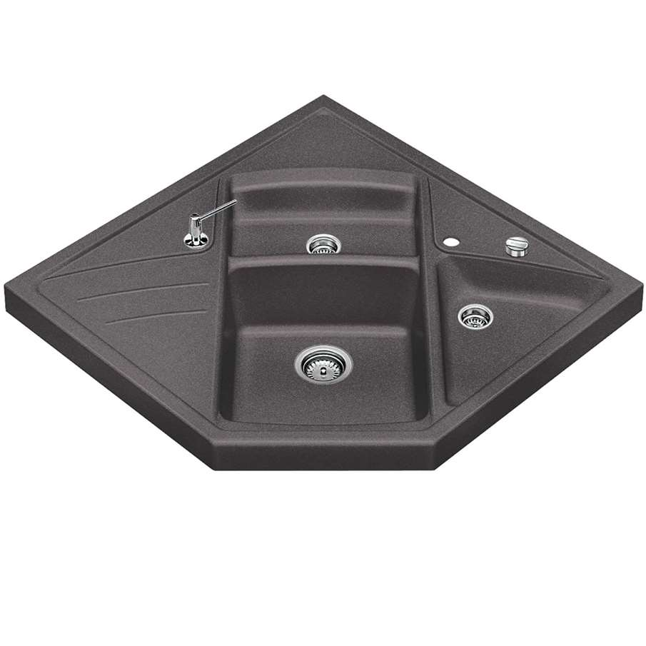 Franke Grey Sink : Blanco: Modus M-90 Rock Grey Silgranit Sink - Kitchen Sinks & Taps