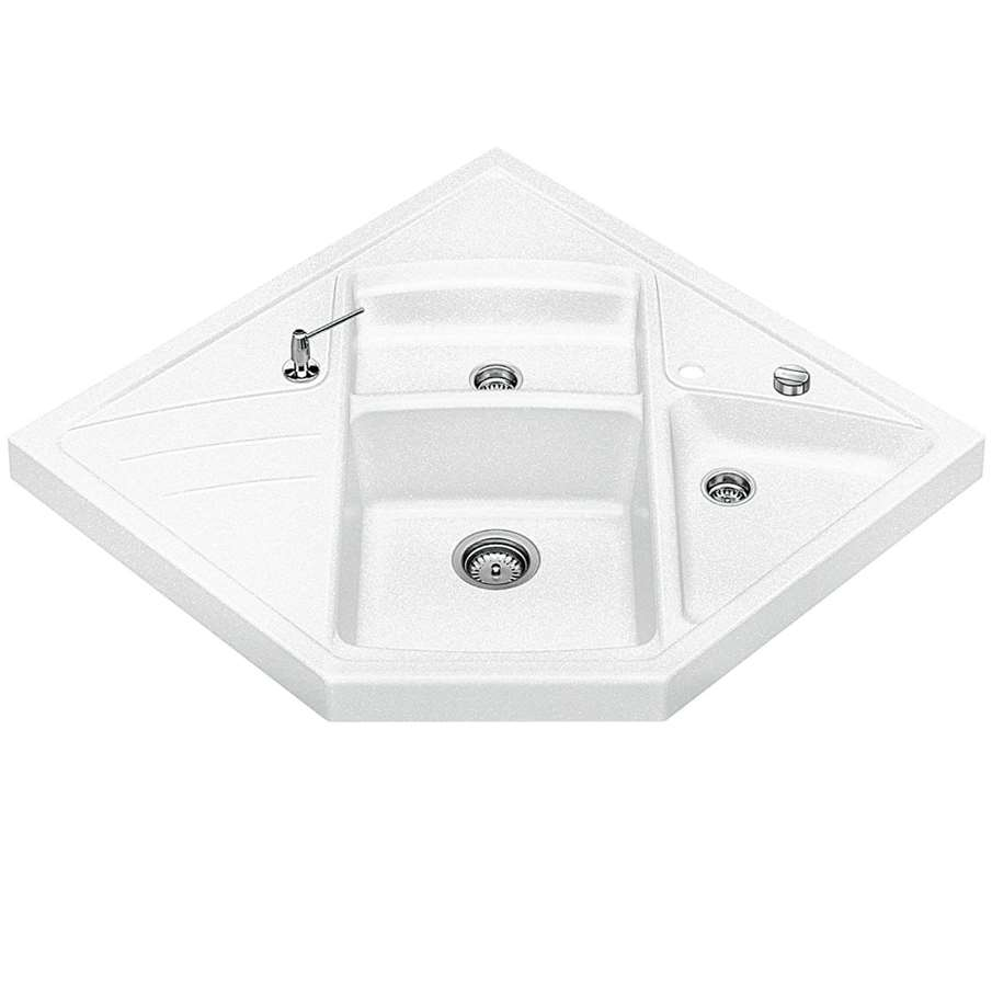 White Silgranit Sink : Blanco: Modus M-90 White Silgranit Sink - Kitchen Sinks & Taps