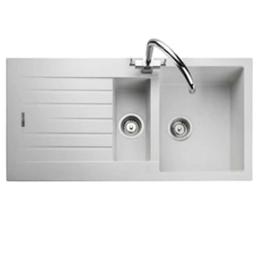 Rangemaster Andesite And1052 Crystal White Igneous Sink