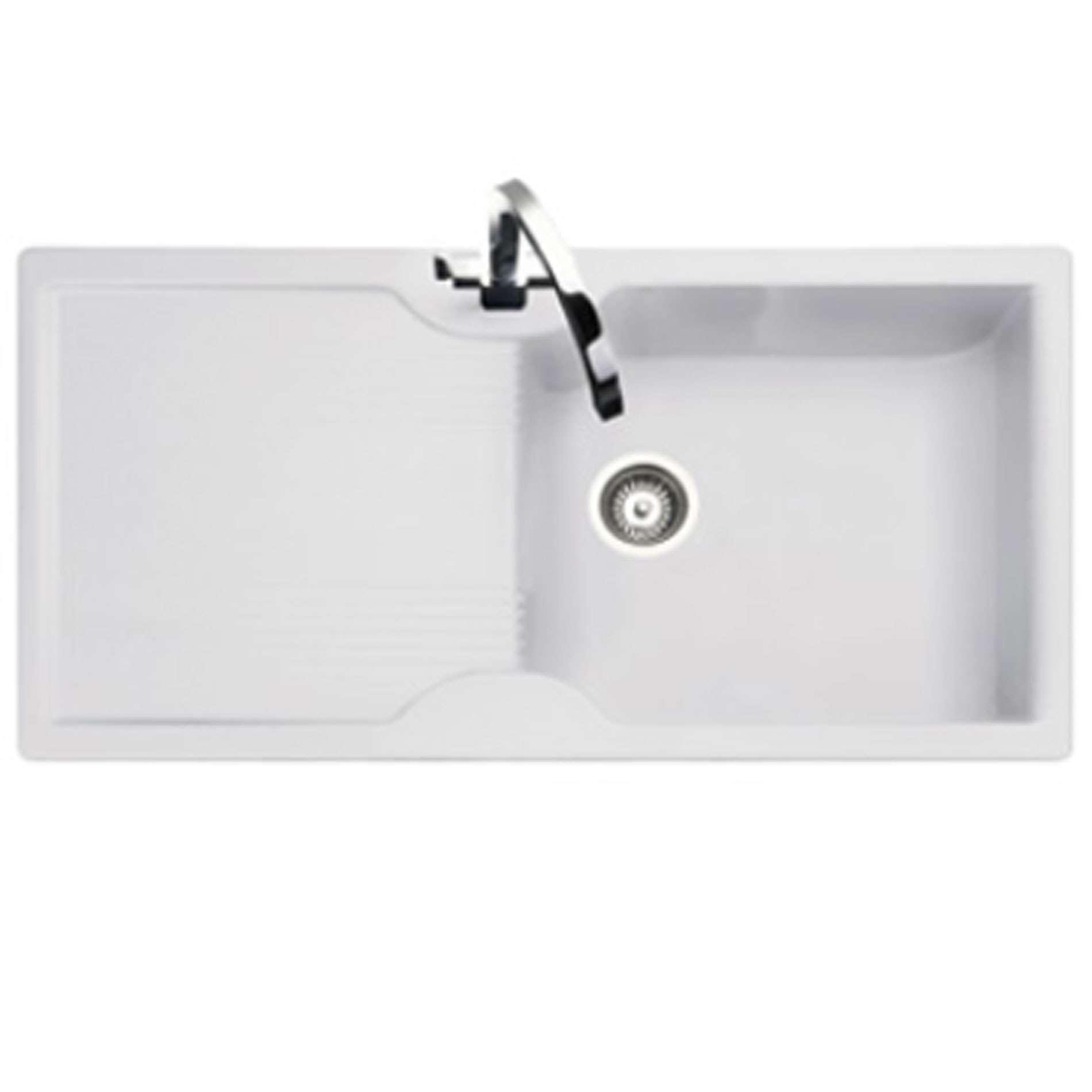 Rangemaster: Lunar LU9851 White Neo-Rock Sink - Kitchen Sinks & Taps