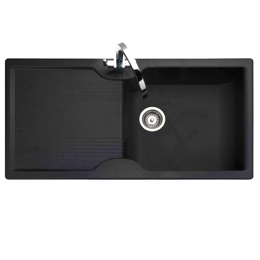 Rangemaster Lunar Lu9851 Black Neo Rock Sink Kitchen