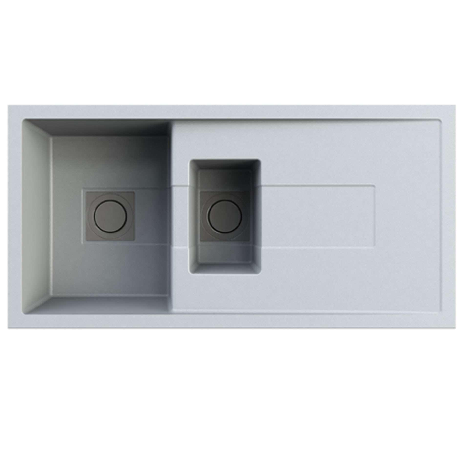 Astracast: Sigma 1.5 Bowl Concrete Grey ROK Granite Sink - Kitchen ...