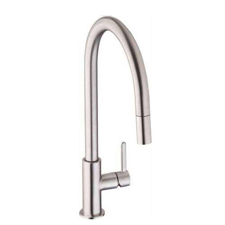 ... : Althia Pull Out Brushed Nickel Tap AT1261 - Kitchen Sinks & Taps