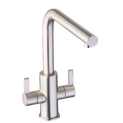 Picture of Abode: Althia Twin Lever Brushed Nickel Tap AT1257