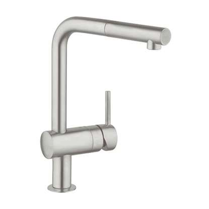 Picture of Grohe: Minta 32168DC0 Pull Out Super Steel Tap