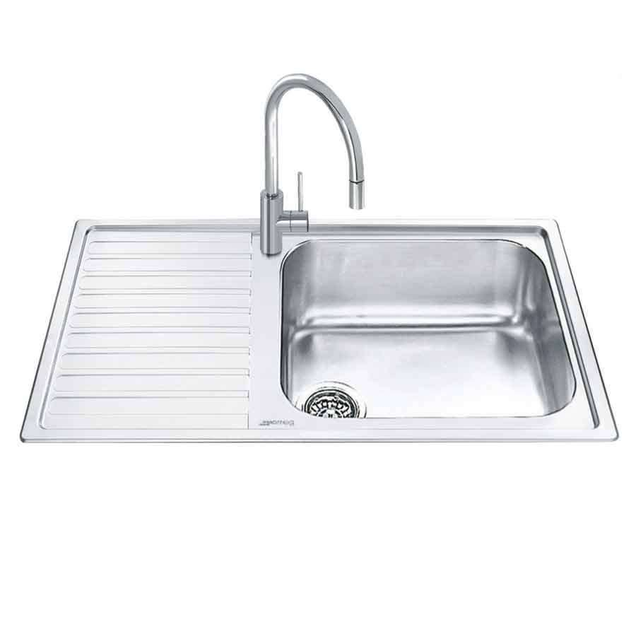 Smeg: LG861-2 Alba Stainless Steel Sink - Kitchen Sinks & Taps