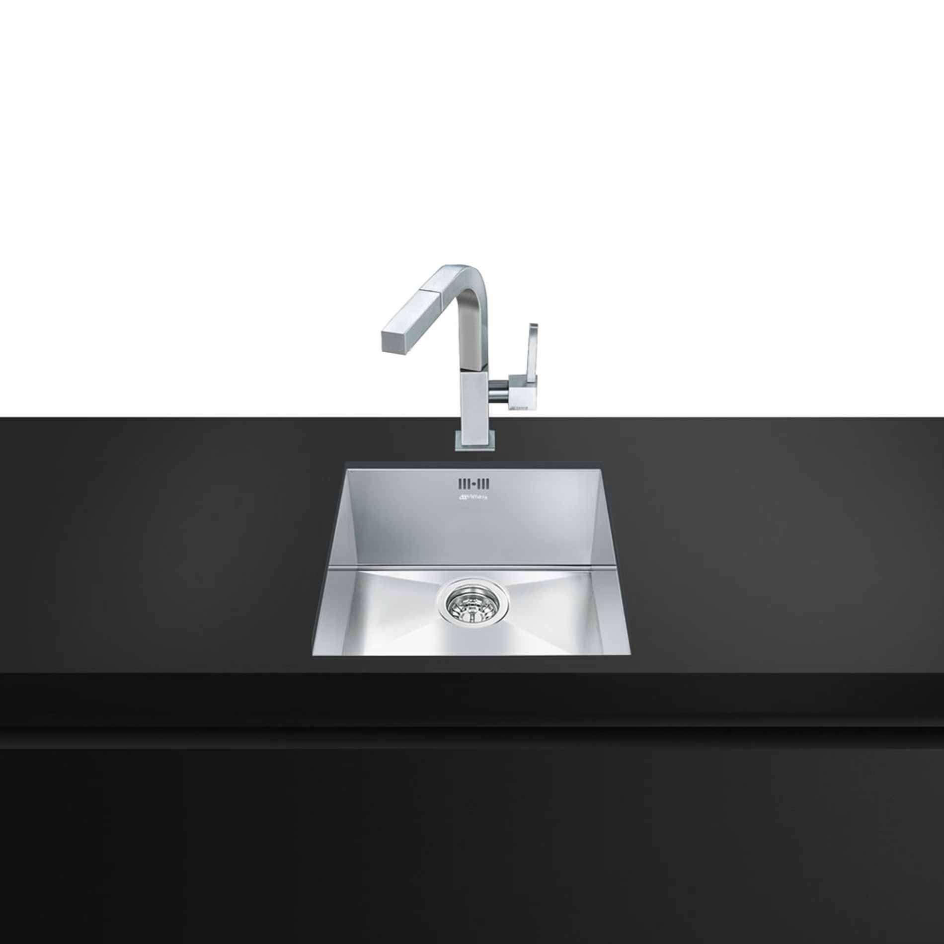 Square Undermount Sink : Smeg: VSTQ40-2 Quadra Square Undermount Sink - Kitchen Sinks & Taps