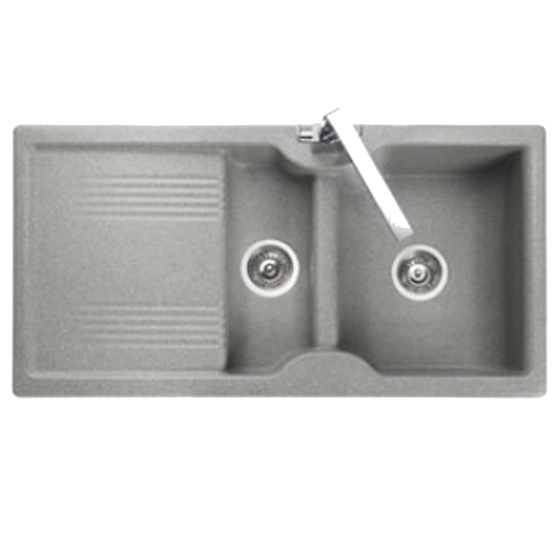 rangemaster lunar lu9852 grey neo rock sink kitchen