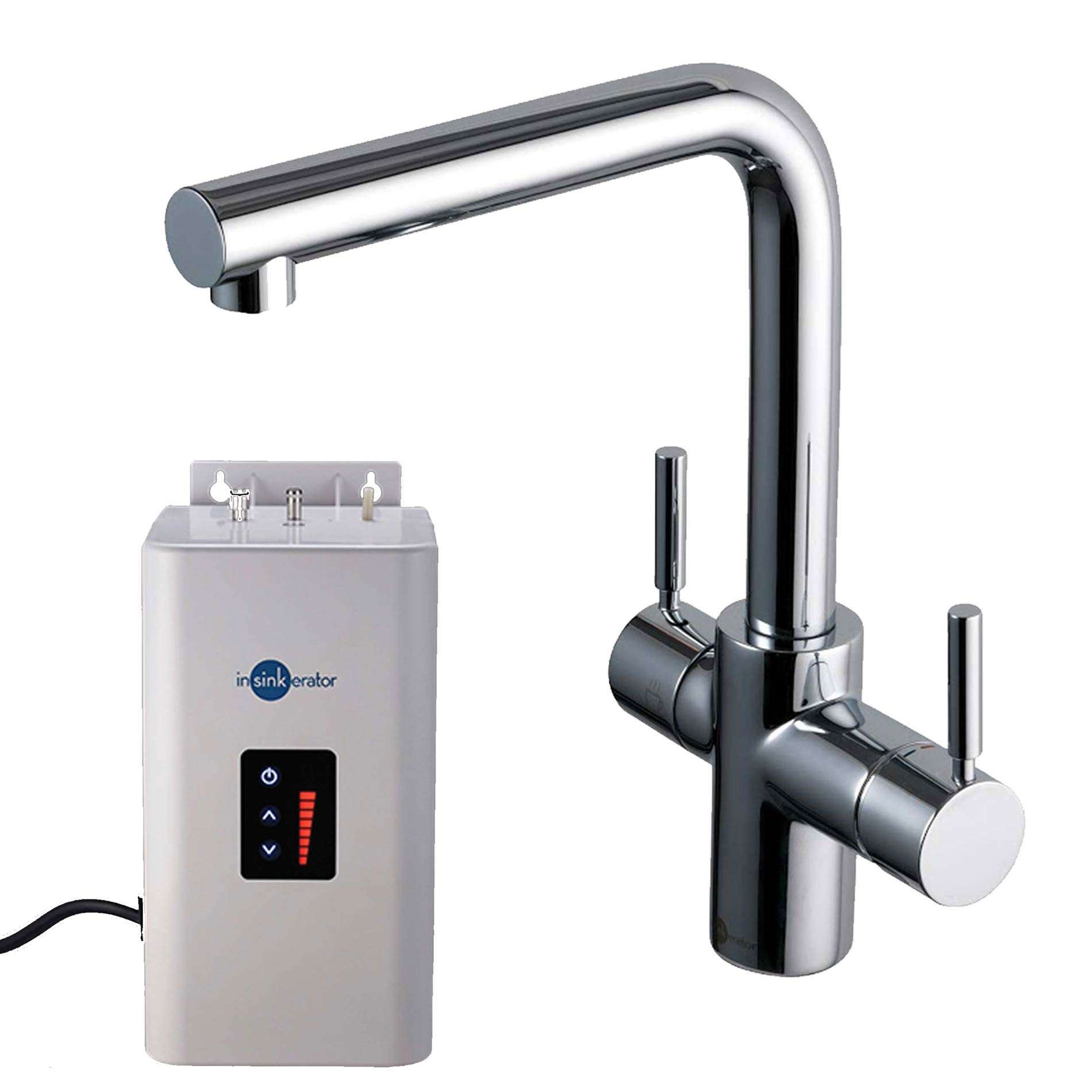 Insinkerator 3n1 Chrome Steaming Hot Water Tap Pack Kitchen Sinks