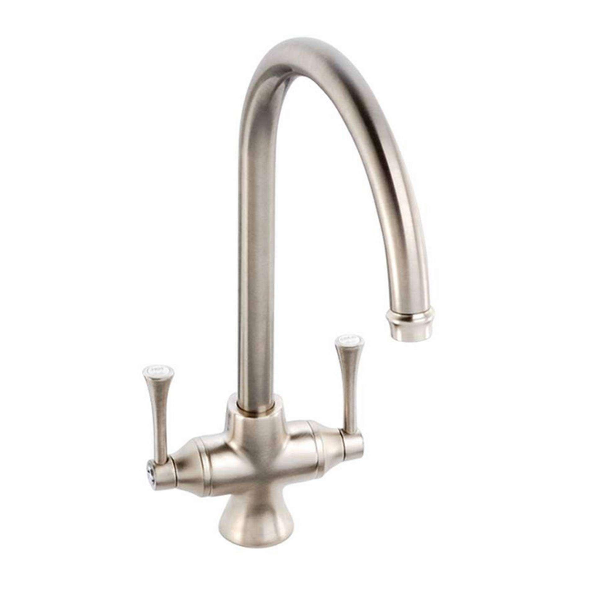 Clearwater: Regent Brushed Nickel Tap - Kitchen Sinks & Taps