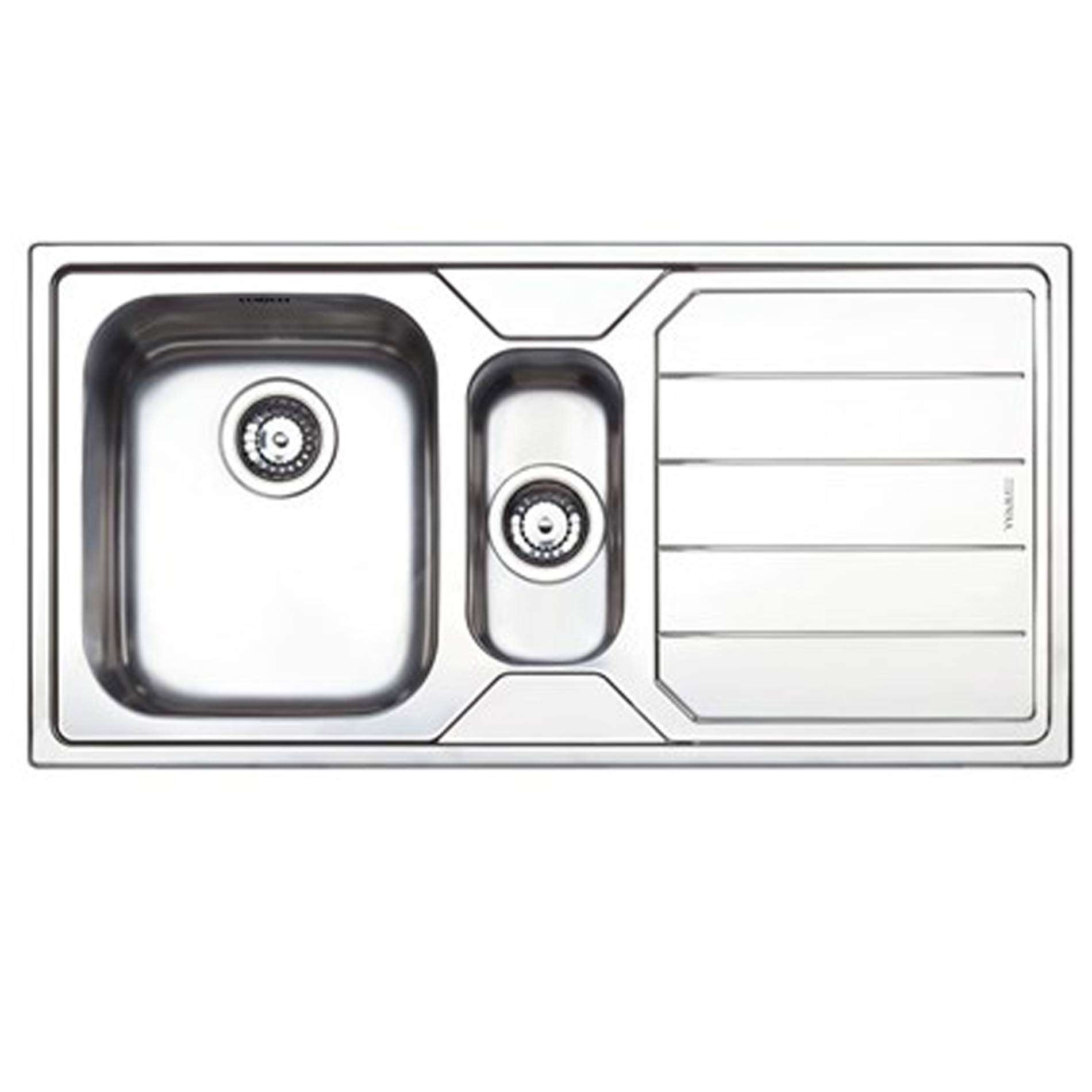 1.5 Bowl With Drainer - Kitchen Sinks & Taps