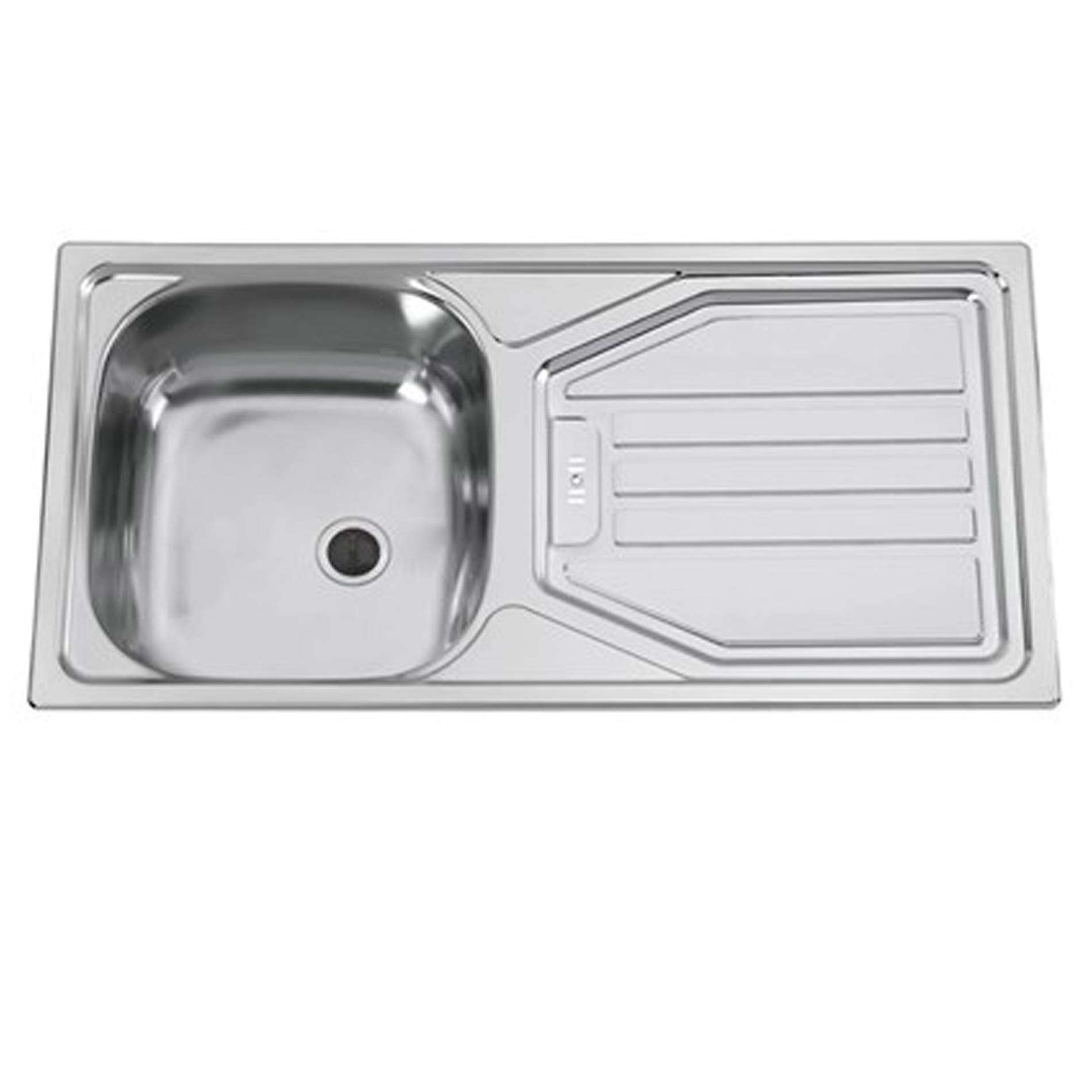 Clearwater: Okio 85 Single Bowl Stainless Steel Linen Sink - Kitchen ...
