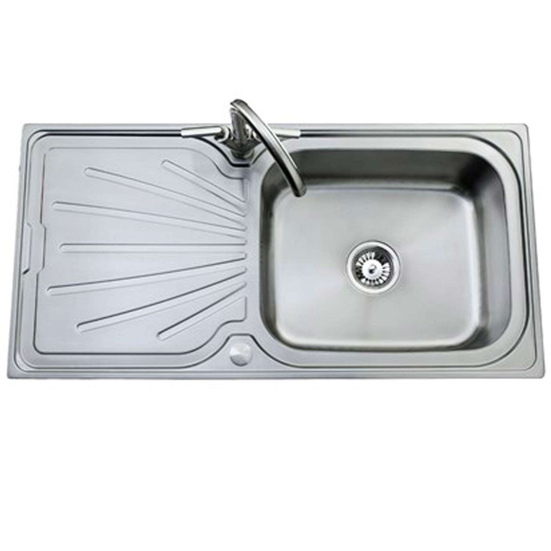 Single Bowl With Drainer - Kitchen Sinks & Taps