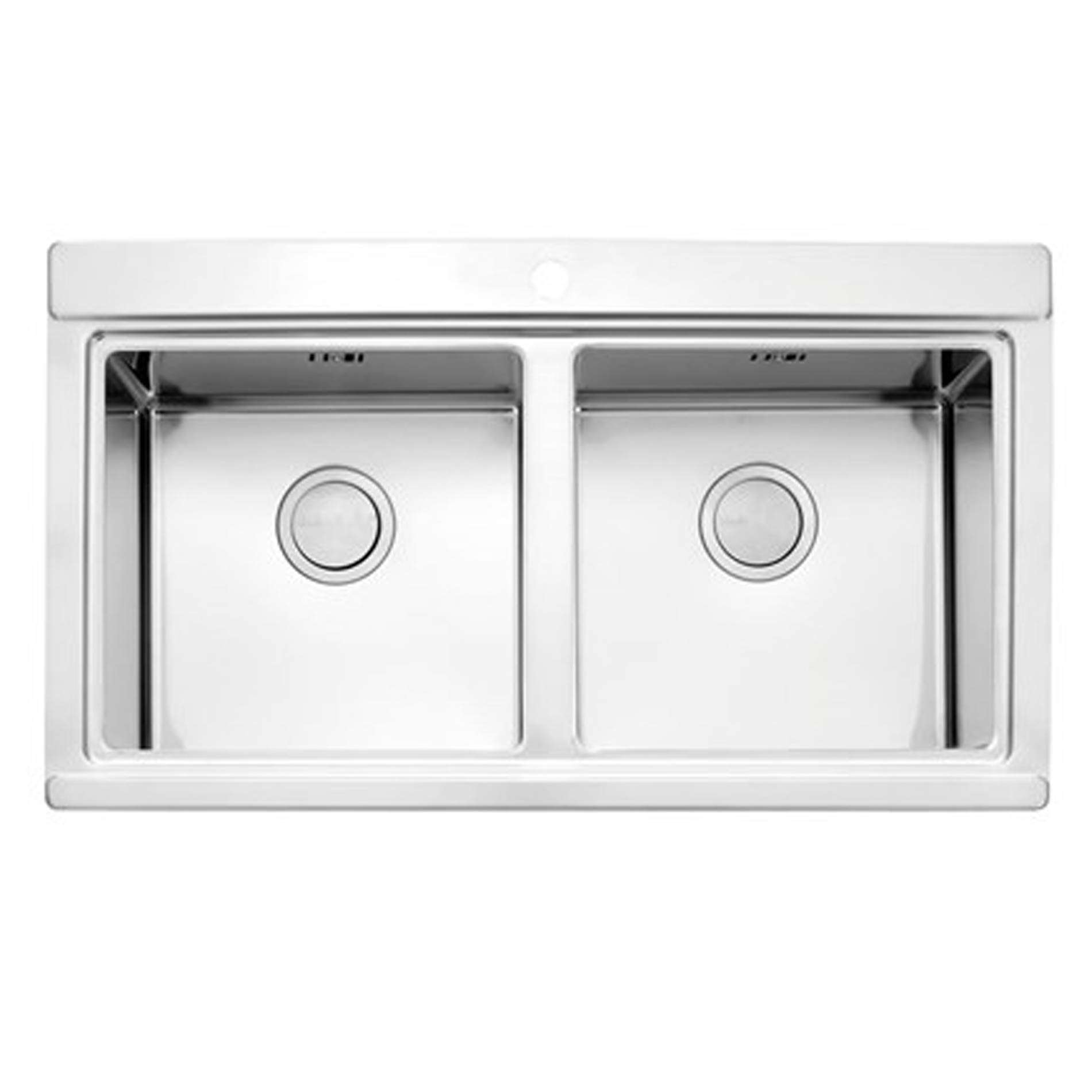 Clearwater Glacier Double Bowl Stainless Steel Sink Kitchen Sinks