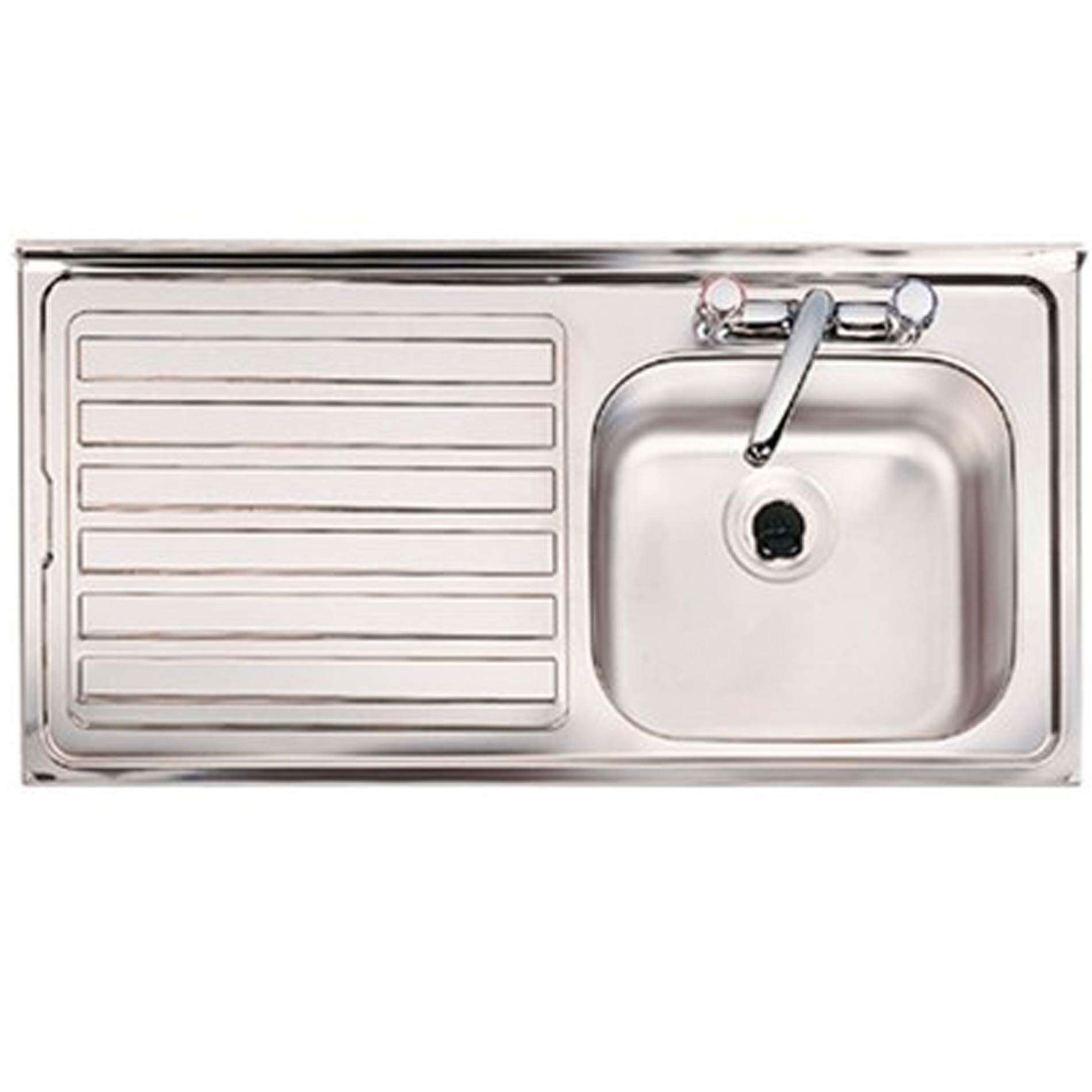 Bon Picture Of Contract BS 2 Tap Hole Single Bowl Stainless Steel Sink