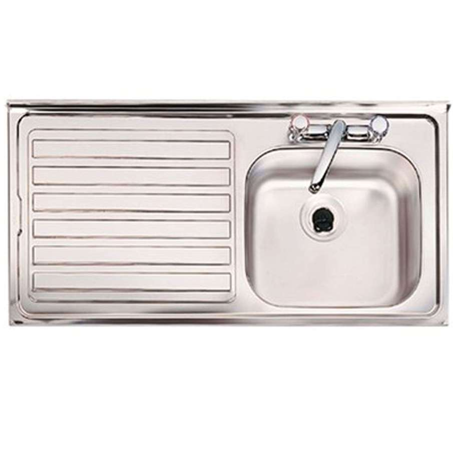 clearwater contract bs 2 tap hole single bowl stainless